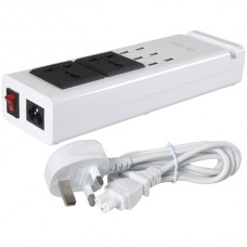 6 Port USB Desk Charger With 2 AC Ports for Charging Multiple Mobile Phones